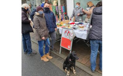 Stand vor dem Freßnapf-Markt in Pfungstadt